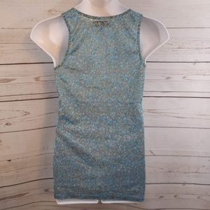 Decree Tops - Decree Sheer Floral Lace Tank Top XXL